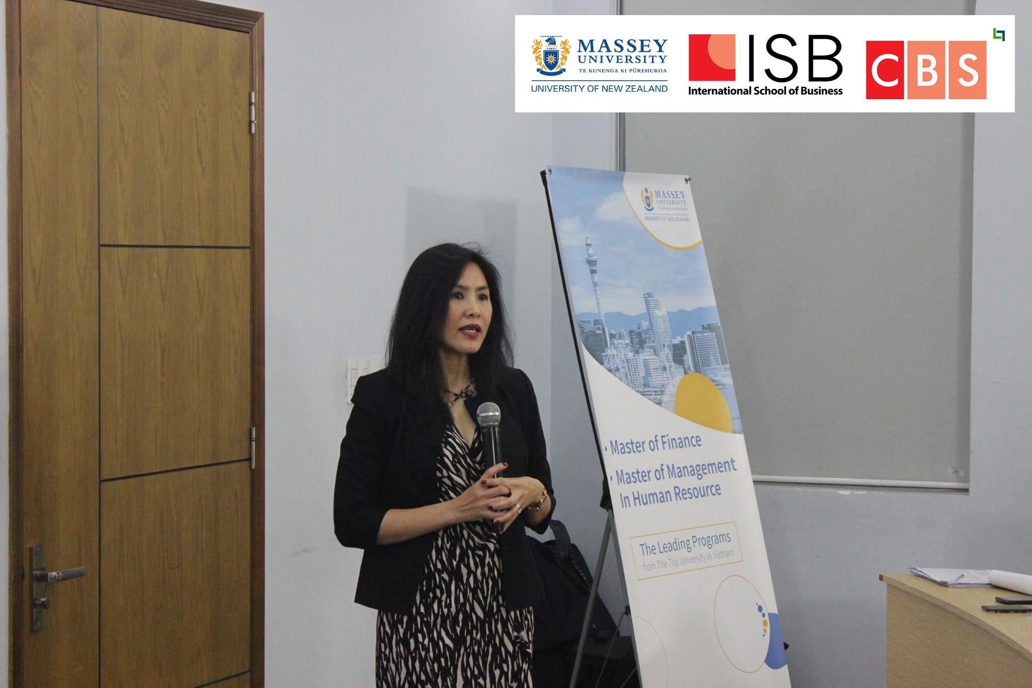 Cô Tôn Nữ Hạ Liên giới thiệu về Đại học Massey, New Zealand