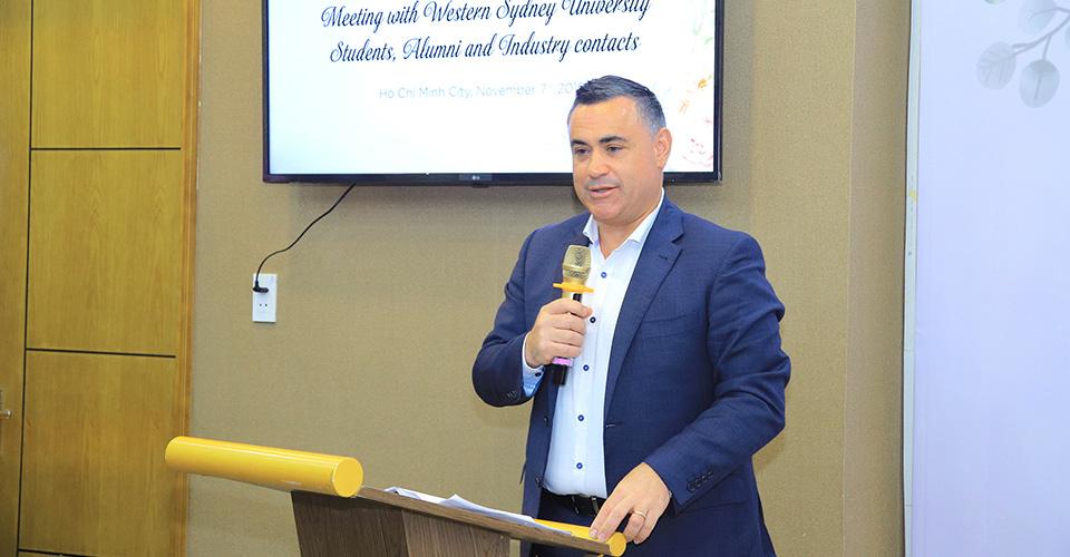 Viện ISB_Đại diện bang New South Wales thăm cơ sở ĐH Western Sydney