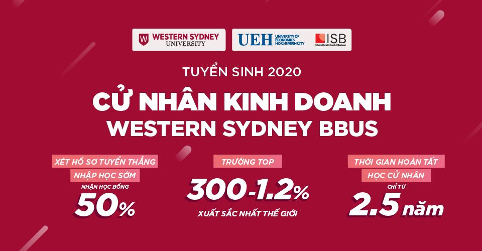 Xét tuyển thẳng Cử nhân Kinh doanh Western Sydney BBUS 2020