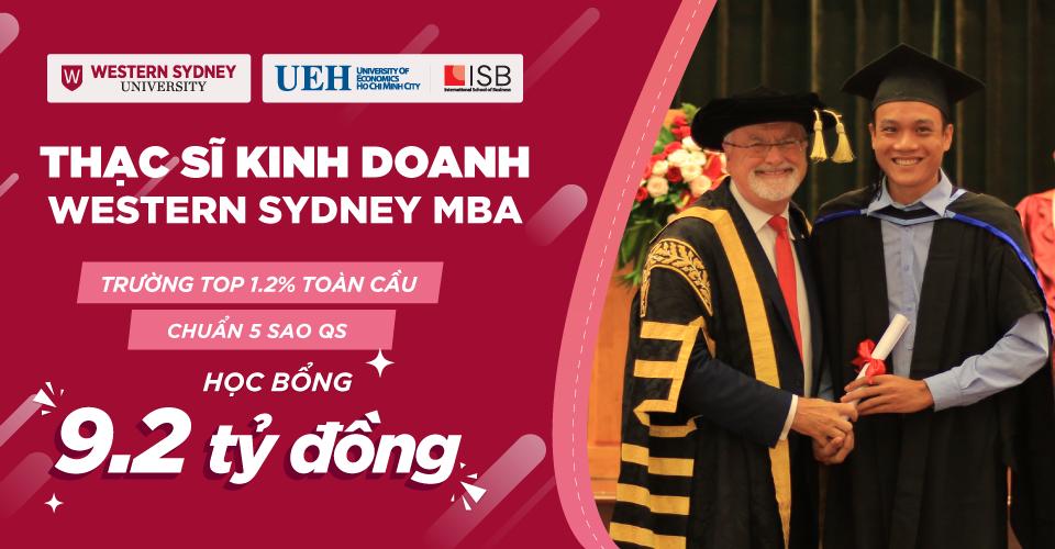 Tuyển sinh Thạc sĩ Kinh doanh Western Sydney MBA