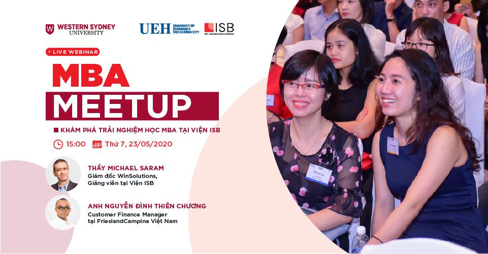 MBA Meetup – Khám phá trải nghiệm học MBA tại Viện ISB