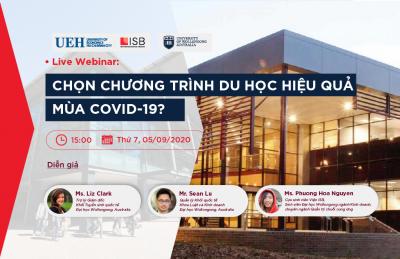 Live Webinar: Chọn chương trình du học hiệu quả mùa covid-19?