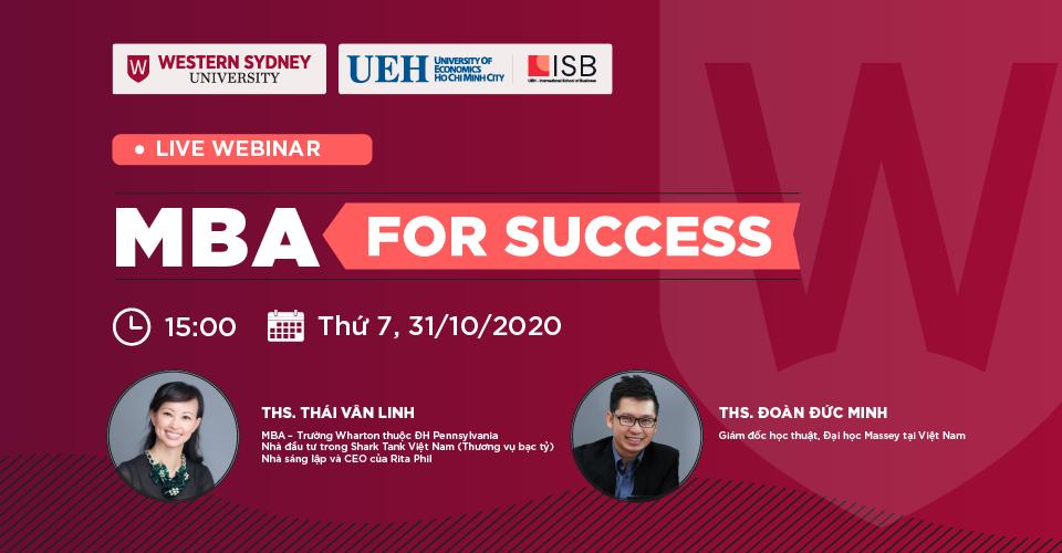 MBA For Success: Thảo luận cùng Shark Thái Vân Linh và ThS. Đoàn Đức Minh
