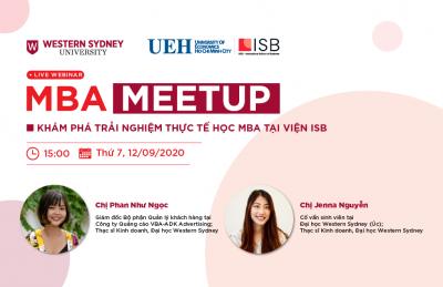 MBA Meetup: Khám phá trải nghiệm thực tế học MBA tại Viện ISB
