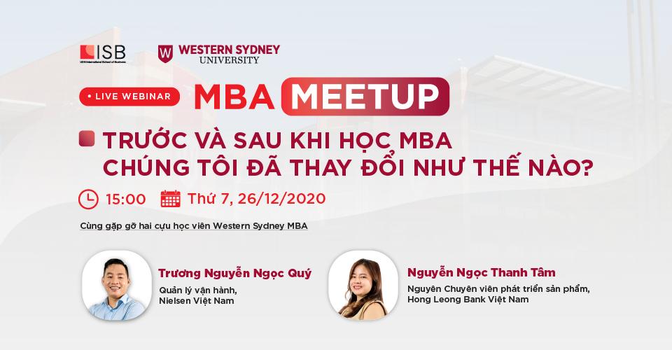 MBA Meetup: Trước và sau khi học MBA - Chúng tôi đã thay đổi như thế nào?