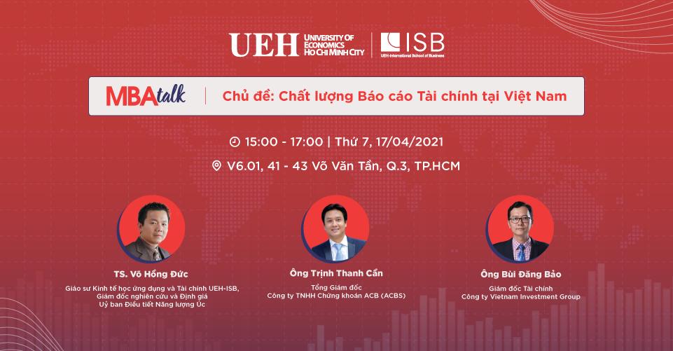 MBA Talk #4: Chất lượng Báo cáo Tài chính tại Việt Nam