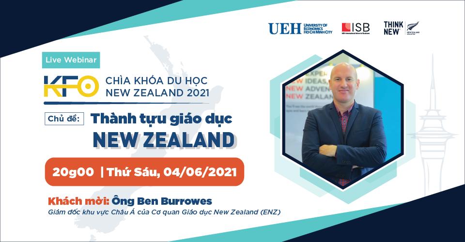 Hình banner sự kiện Chìa khóa du học New Zealand 2021-Chủ đề #1: Thành tựu giáo dục New Zealand