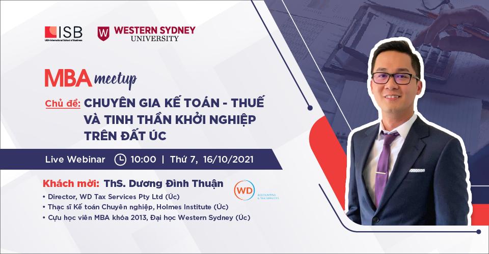 MBA Meetup: Chuyên gia Kế toán - Thuế và tinh thần khởi nghiệp trên đất Úc