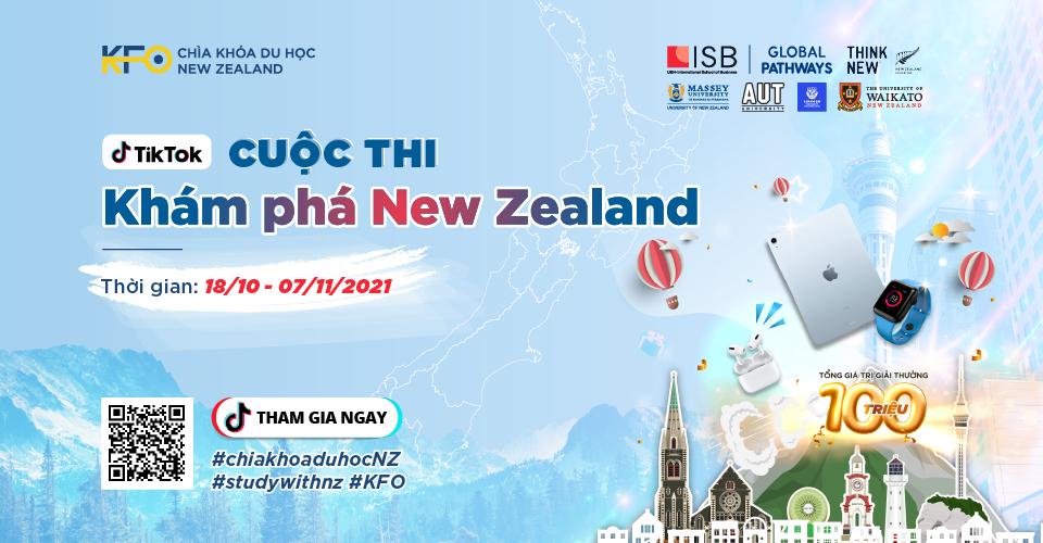 hình cuộc thi Tiktok Khám phá New Zealand