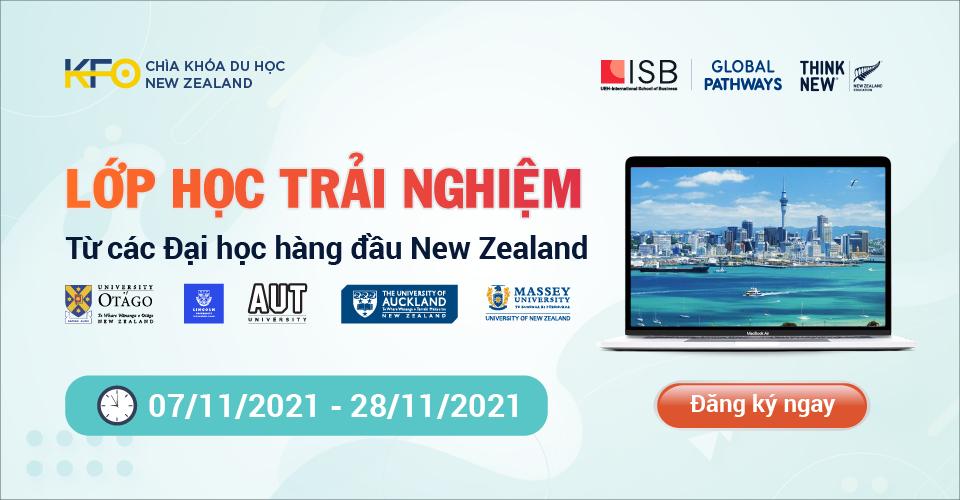 Hình Chìa khóa du học New Zealand 2021 - Lớp học trải nghiệm từ 5 Đại học hàng đầu tại New Zealand